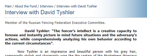 Interview with David Tyshler